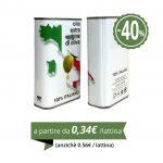 LATTINA PER OLIO 0,500 LITRI 100% ITALIANO - 67-lattine-con-70-tappi-standard-in-scatola-da-48x31x37-cm
