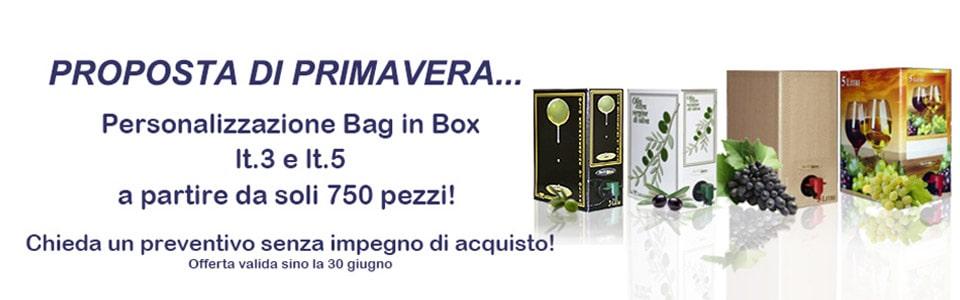 personalizzazione Bag in box